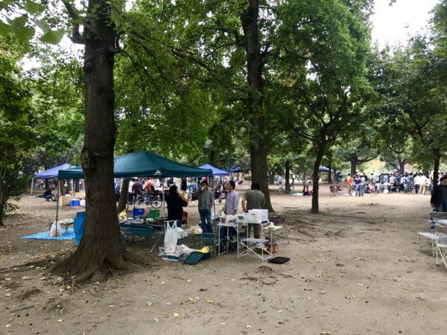 舎人公園バーベキュー1
