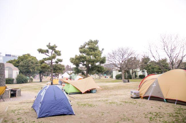 若洲海浜公園キャンプ場